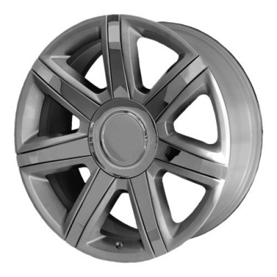 OE Creations PR164 Machine Silver wheel (22X9, 6x139.7, 78.30, 24 offset)