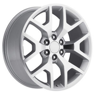 OE Creations PR169 Machine Silver wheel (22X9, 6x139.7, 78.30, 27 offset)