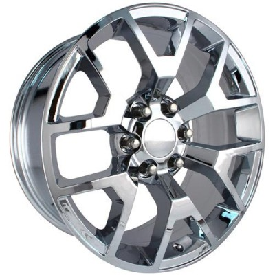 OE Creations PR169 Chrome wheel (22X9, 6x139.7, 78.30, 27 offset)