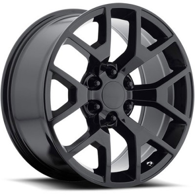 OE Creations PR169 Gloss Black wheel (22X9, 6x139.7, 78.30, 27 offset)