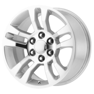 OE Creations PR175 Machine Silver wheel (18X8, 6x139.7, 78.3, 24 offset)