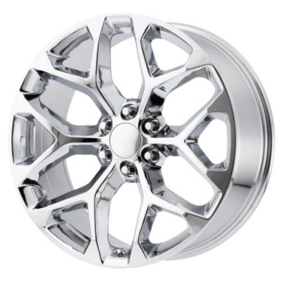 OE Creations PR176 Chrome wheel (22X9, 6x139.7, 78.30, 24 offset)