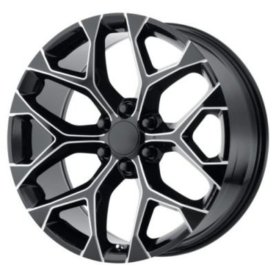 OE Creations PR176 Gloss Black Machine wheel (20X9, 6x139.7, 78.30, 24 offset)