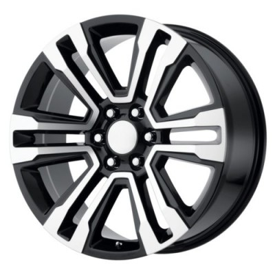 OE Creations PR182 Gloss Black Machine wheel (20X10, 6x139.7, 78.1, 24 offset)