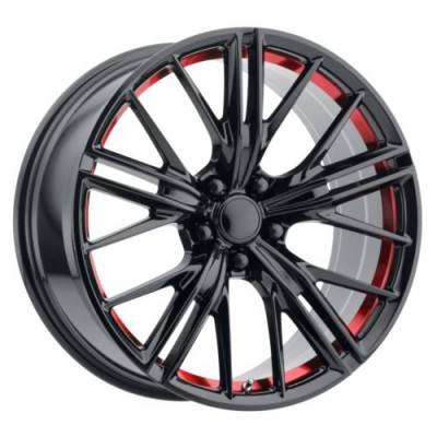 OE Creations PR194 Black Red wheel (20X10, 5x120, 67, 23 offset)