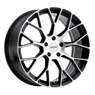Petrol Wheels P2B Gloss Black Diamond Cut wheel (15X7, 4x100, 72.1, 40 offset)