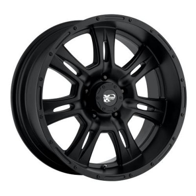 Pro Comp Series 7047 Matte Black wheel (17X9, 8x180, 130.1, -6 offset)