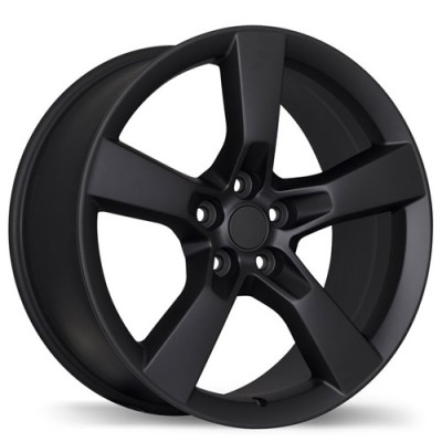 Replika Wheels R129A Matte Black wheel (20X8, 5x120, 67.1, 35 offset)