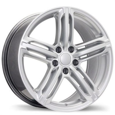 Replika Wheels R133A Hyper Silver wheel (17X8, 5x112, 66.5, 35 offset)