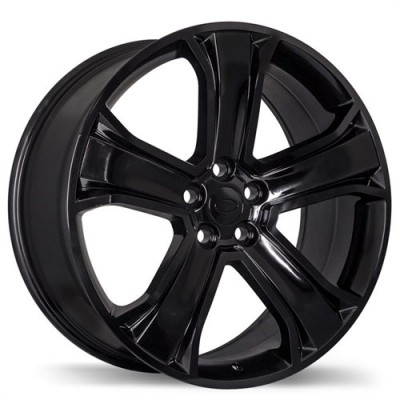 Replika Wheels R135C Gloss Black/Noir lustré , 20X9.5, 5x120, (offset/déport 48 ) 72.6 Audi