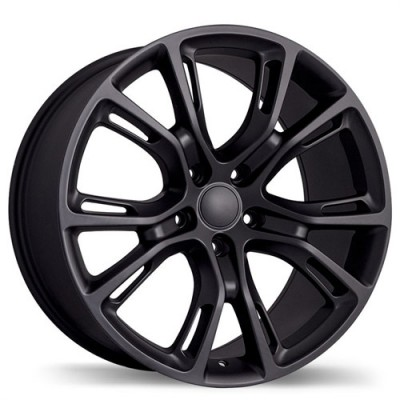 Replika Wheels R148B Matte Black/Noir mat, 20X9.0, 5x127, (offset/déport 34 ) 71.5 Jeep