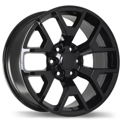 Replika Wheels R162A Gloss Black/Noir lustré , 20X9.0, 6x139.7, (offset/déport 27 ) 78.1 Chevrolet, GMC