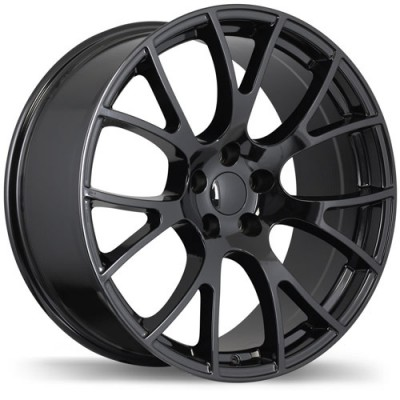 Replika Wheels R179A Gloss Black/Noir lustré , 20X9.5, 5x115, (offset/déport 18 ) 71.5 Dodge