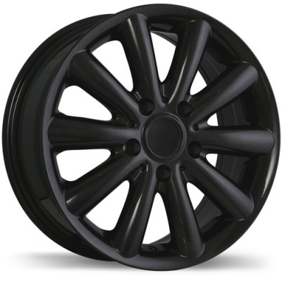 Replika Wheels R181 Titanium Black/Noir titane, 16X6.5, 5x112, (offset/déport 54 ) 66.6 Mini