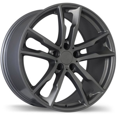 Replika Wheels R184 Gloss Gunmetal/Gunmétal lustré, 20X11.0, 5x120, (offset/déport 37 ) 74.1 BMW