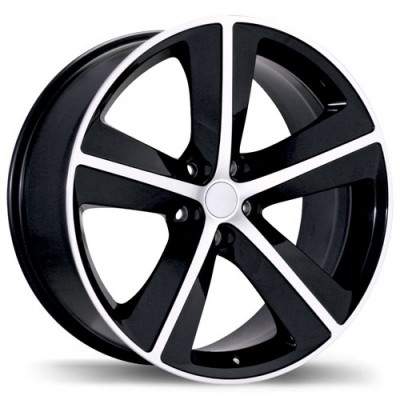 Replika R118A Gloss Black Machine wheel (20X9, 5x115, 71.5, 20 offset)