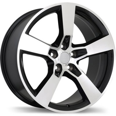 Replika R129B Gloss Black Machine wheel (20X9, 5x120, 67.1, 40 offset)