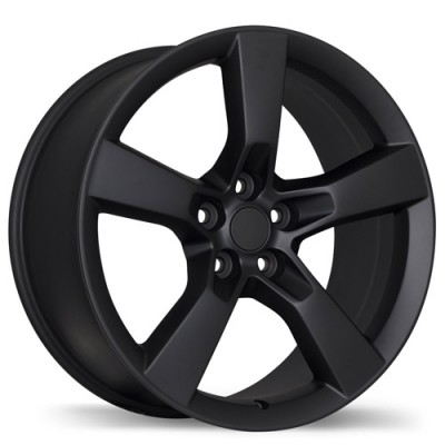 Replika R129B Matte Black wheel (20X9, 5x120, 67.1, 40 offset)
