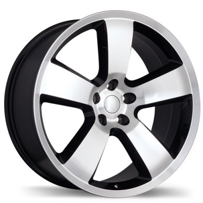 Replika R145 Gloss Black Machine wheel (20X9, 5x115, 71.5, 20 offset)