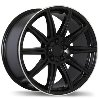 Replika R157 Matt Black Machine wheel | 18X9.5, 5x112, 66.5, 45 offset