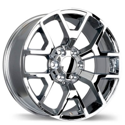 Replika R162 Chrome wheel (22X9, 6x139.7, 78.1, 27 offset)
