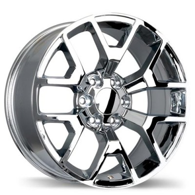 Replika R162A Chrome wheel | 20X9, 6x139.7, 78.1, 27 offset