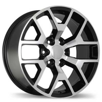 Replika R162A Gloss Black Machine wheel | 20X9, 6x139.7, 78.1, 27 offset