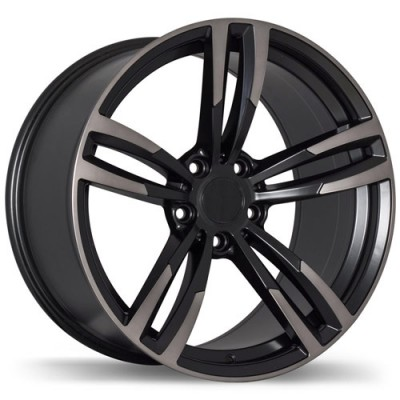 Replika R163 Machine Black wheel (19X8.5, 5x120, 72.6, 35 offset)