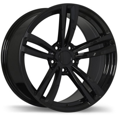 Replika R163A Gloss Black wheel (16X7, 5x120, 72.6, 35 offset)