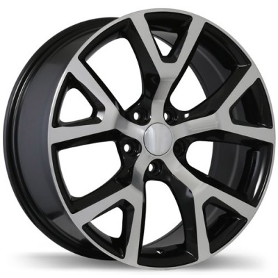 Replika R165A Gloss Black Machine wheel | 17X7.5, 5x110, 65.1, 31 offset