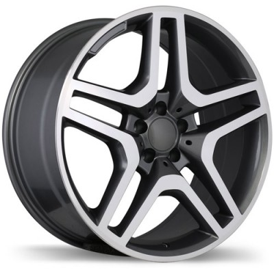 Replika R173A Machine Gunmetal wheel (19X8.5, 5x112, 66.5, 45 offset)