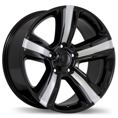 Replika R177 Gloss Black wheel (20X9, 5x139.7, 77.8, 18 offset)
