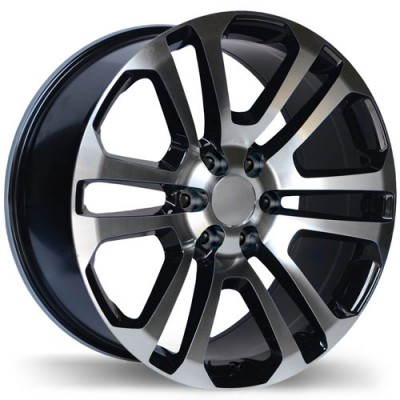 Replika R178 Gloss Black Machine wheel (22X9, 6x139.7, 78.1, 24 offset)