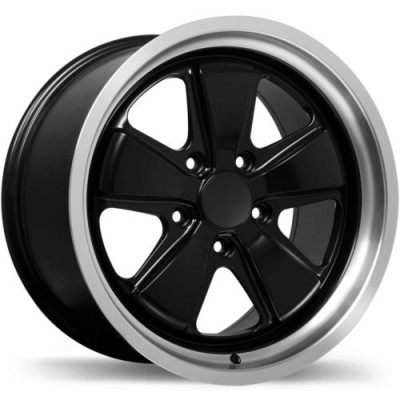 Replika R186 Matte Black Machine Lip wheel (18X10.0, 5x130, 71.6, 50 offset)