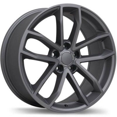 Replika R199 Matte Gun Metal wheel (18X8.5, 5x112, 66.5, 35 offset)