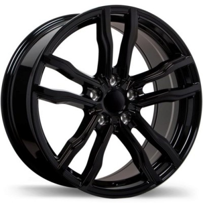 Replika R200 Gloss Black wheel (18X8.5, 5x120, 74.1, 42 offset)