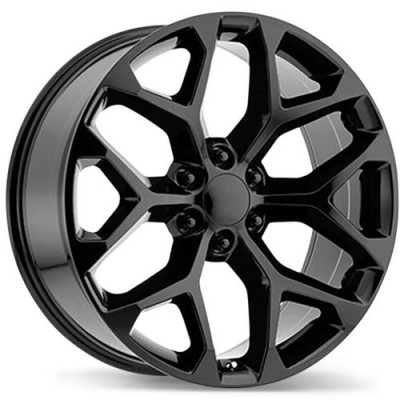 Replika R203 Gloss Black wheel (20X9, 6x139.7, 78.1, 24 offset)