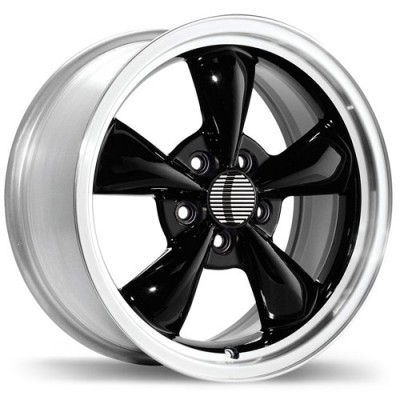 Replika R35A Gloss Black Machine wheel (17X10.5, 5x114.3, 70.6, 27 offset)