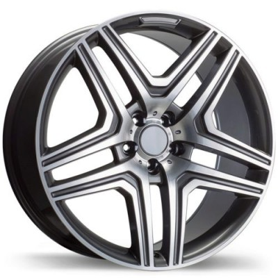 Replika Wheels R210 Machine Gunmetal wheel (22X10.0, 5x112, 66.5, 48 offset)
