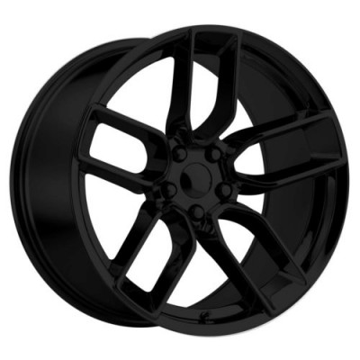 Replika Wheels R216 Gloss Black wheel (20X10.5, 5x115, 71.5, 25 offset)