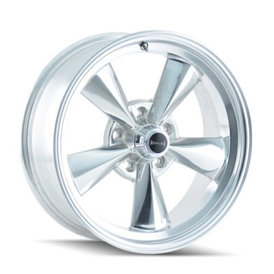 Ridler 675 Polished / Argent Polie, 15X7, 5x114.3 ,(déport/offset 0 ) 83.82