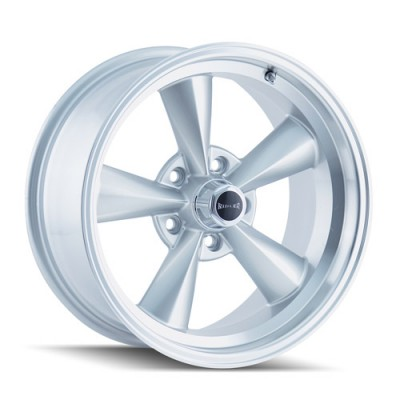 Ridler 675 Machine Silver wheel (15X7, 5x120.65, 83.82, 0 offset)