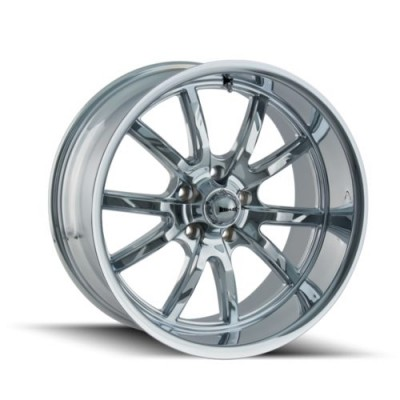 Ridler 650 Chrome wheel (20X10, 5x120, 72.62, 38 offset)
