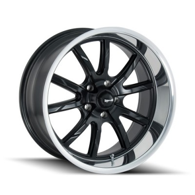 Ridler 650 Matt Black Machine wheel (15X7, 5x120.65, 83.82, 0 offset)