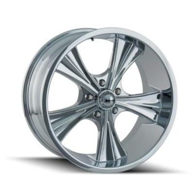 Ridler 651 Chrome wheel (20X10, 5x120.65, 83.82, 0 offset)