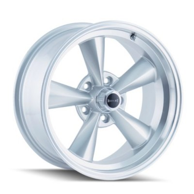Ridler 675 Machine Silver wheel (17X7, 5x120.65, 83.82, 0 offset)
