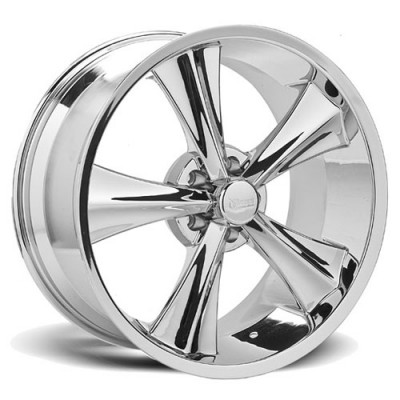 Rocket Wheels Modern Muscle Booster Chrome wheel (20X10, 5x120.7, 78.1, 30 offset)