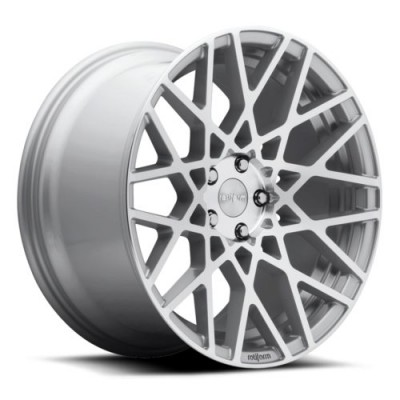 Rotiform BLQ R110 Machine Silver wheel (18X8.5, 5x120, 72.6, 45 offset)