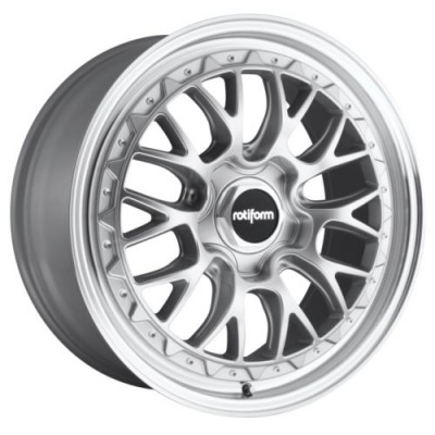 Rotiform R155 LSR Silver Machine Lip wheel (18X9.5, 5x120.00, 72.56, 35 offset)