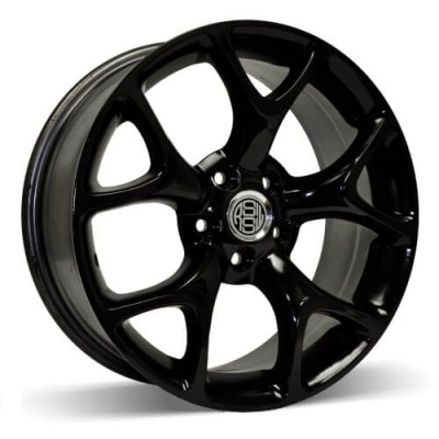 RSSW Aero Gloss Black wheel | 18X8, 5x108, 63.4, 42 offset